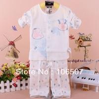 2pcs 100% cotton 0-1 years long Children Pajamas spring Autumn winter newborn baby clothing Underwear sets Kids Sleepwear hot