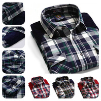 Best-Seller !!!! Do Not Miss Top Grade Man's Summer Short Sleeve Cotton Plaid Casual Shirts--- Choice Material & Free Shipping