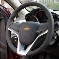 Free shipping Chevrolet Cruze Steering wheel cover ,CRUZE steering wheel decoration strip ,car accessories
