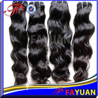 3pcs/ lot Fayuan full cuticle no chemical processed loose wave 5A virgin brazilian hair