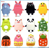 New 2013 Hot Selling Child Backpack Child Cartoon Animal School Bag Free Shipping(15 Colors)