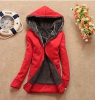 2015 Women's Hoodies cheap hot selling Autumn winter fleece casual coat free shipping