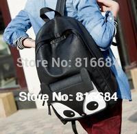 Free shipping (1pcs/lot) PU Leather Fashion Women's Fox Backpack School Bag For Girl
