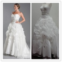 Wedding Dress Real Sample 2013 New Sexy A-Line Sweetheart Crystal Beads Tulle Wedding Gown Dress Customize QQ-87