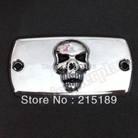 3D Skull Brake Fluid Reservoir Cap for Honda Shadow 600 750 1000 04 05 06 07 08 2004 2005 2006 2007 2008 2009 2012 2011 2010