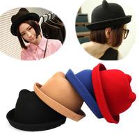 2014 Fashion Panda Wool Caps And Hats Trilby Caps Feforas Multi Colrs Wholesale 10PCS/LOT DHL Free Shipping
