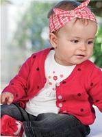 2014 spring new style baby clothing set toddler girls fashion suit polka dot coat+t-shirt+jeans 2pcs set of girls outer clothing