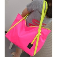 2013 fashion women's handbag candy color bags shoulder bag casual bag big nylon bag +Free shipping H01