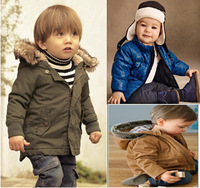 2014 free shipping Retail 1 set Top Quality! kids long-sleeve plush hoodies jacket boy thick cotton coat 2-6yrs in stock