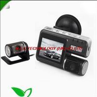 Wholesale HD 720P Camera Video Recorder Dual Lens Dashboard Car vehicle DVR CAM G-sensor