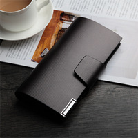 2014 Male Genuine Leather Wallet Long Design Purse Men's Day Clutch Bags  Male Cowhide Notecase Man long Billfold Free Shipping