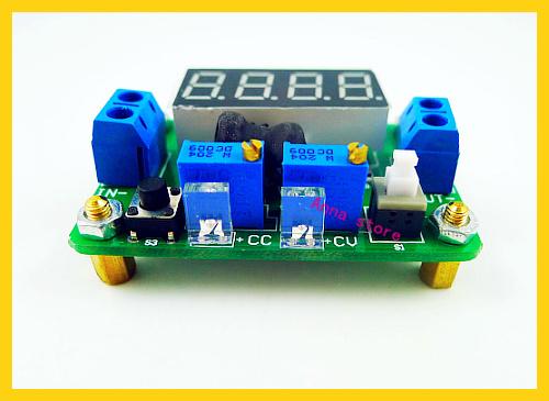 2pcs/lot dc dc Buck step down 4.5-24V to 1-20V 12v 5v 2A cc cv Converter Constant Voltage Current with LED Volt Ammeter