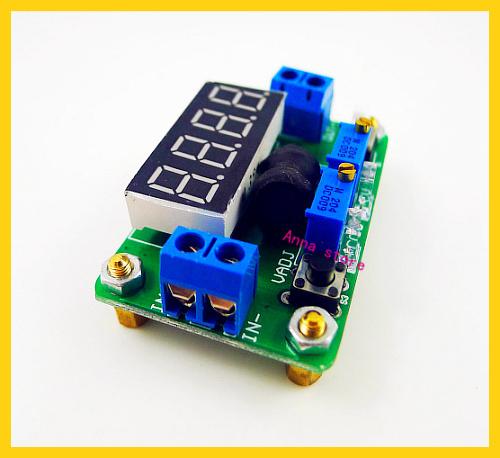 2pcs/lot dc dc step down 4.5-24V to 1-20V 2A Converter Constant Voltage Current with LED Volt Ammeter