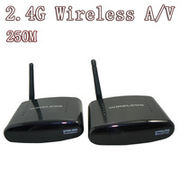 250m 2.4G Wireless AV TV audio video TV sender Transmitter Receiver free shipping