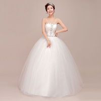 Free shipping New Arrival 2013 Fashion Women  V-neck  Rhinestone Deration Tube Top  Wedding  Dress