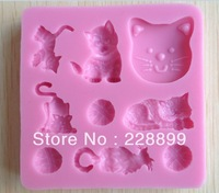 Free Shipping 1Pcs baby animal Chocolate Candy Jello 3D silicone Mold Mould cake tools Bakeware Pastry Soap Mold  XC075