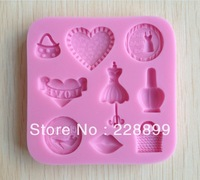 Free Shipping 1Pcs baby animal Chocolate Candy Jello 3D silicone Mold Mould cake tools Bakeware Pastry Soap Mold  CC077