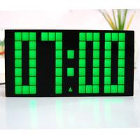 Free Shipping Beautiful Plastic Alarm Clock , DIY Wall Clock display Temperature & Date Night Light Clock
