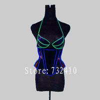 2013 Fashion royal shaper ds luminous cummerbund neon jacket led luminous  costumes light-up