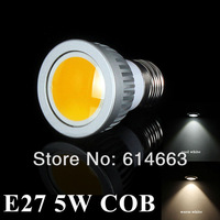 Free shipping hot sales E27 5W LED COB Spot Light Bulbs Warm White/Cool White High Brightness Energy Saving