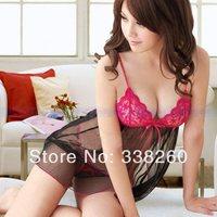 Hot Sexy Lace Lingerie Babydoll Dress Underwear Sleepwear G-string Red Black