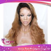 HOT!!! Top quality Brazilian human hair full lace wigs two tone&front lace wigs two tone,two tone color,free shipping!