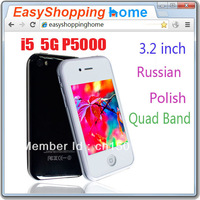 "i5 5G P5000 3.2"" TV Touch Screen Quad Band Unlocked Phone mpi5"