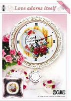 New design unfinished cross stitch kit cross-stitch sets,DOME cross stitch: Love adorns itself