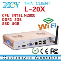 thin client with 32 bit network thin client XCY L-20X mini pc with 6*USB 2.0 port