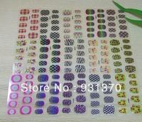 2013  Newest Nail Foils Nail Wraps stikers (10pieces/set)