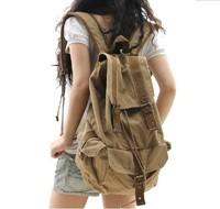 Big Size Vintage Canvas Men's Girl's Women's Backpack school bag travel backpack