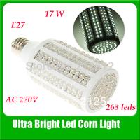 Free Shipping 17W 263 leds e27 Corn Bulb Light AC 220v Maize Lamp Led Light Bulb Lamp Warm White /White LED Lighting