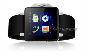 Free shipping 2013 New SIMVALLEY Excellent Design 1.54 Capacitive Touch Screen Quad Band GSM Watch Mobile Phone