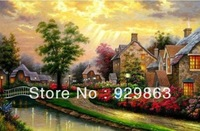 Accurate printing quality DMC cross-stitch cross-stitch embroidery painting cottage garden new cabin