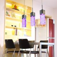 Modern minimalist restaurant lamp chandelier high power led led bubble crystal color pendant