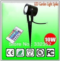Free shipping High Power 2pcs/lot 10W LED Spike Light, LED Garden Light Spike 10W DC12V