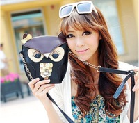 2013New arrive Europe  PU leather women Vintage ladies shoulder hand bags with belt owl and fox 2styles wholesale Freeshipping