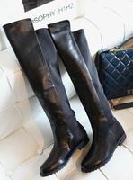NEW 2014 women motorcycle boots ladies shoes over knee boot genuine leather fashion boots winter red brand boots 5
