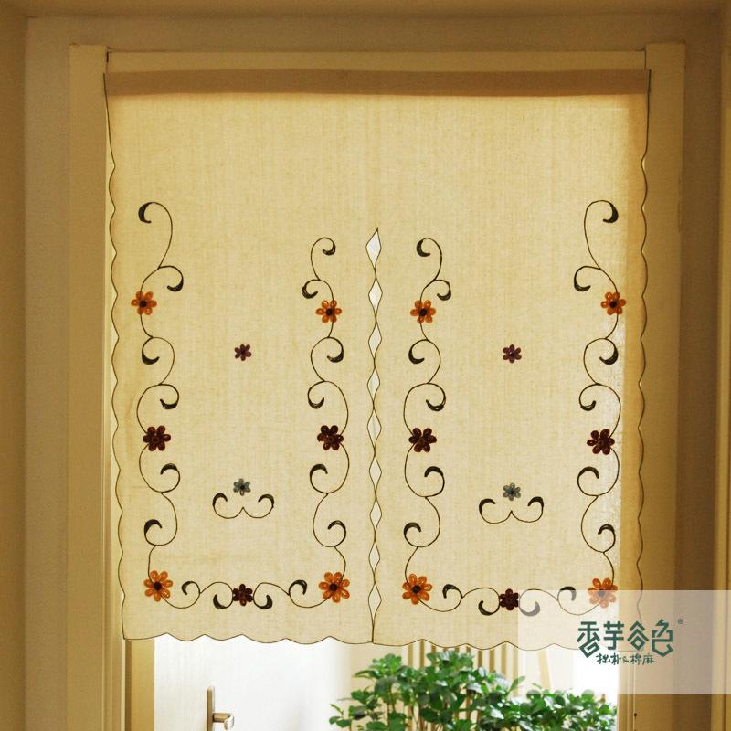 Compra cortinas cortinas r sticas online al por mayor de - Cortinas estilo rustico ...