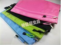 solid color multi-layer zipper bags A6 A5 B5 A4  edge bags paper bags multicolour paper bags canvas oxford fabric