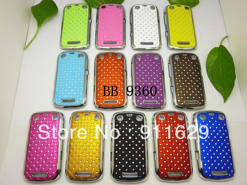 2pcs/lot&Free shipping newest arrival Luxury Bling Rhinestone diamond case for Blackberry 9360(China (Mainland))