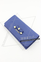 Rhinestone ladies sweet wallet female long design day 2013 elegant black and white clutch bags