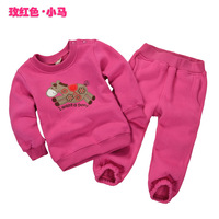 Children  set  Boy fleece long sleeve  tracksuits  size  90 100 110