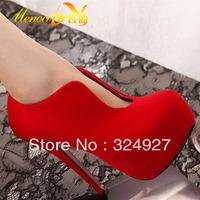 Elegant ladies ! autumn ultrafine platform high-heeled shoes candy color platform comfortable single shoes female+Free Shopping