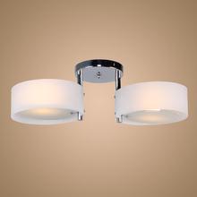 Acrylic Ceiling Light Lighting Chrome Finish 110-120V use 2 * E26 Fluorescent bulb Lamp DHL Free shipping(China (Mainland))