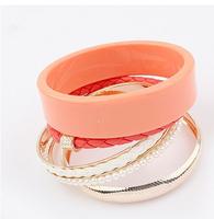 Candy Plated Bangle Set Fashion Jewelry Women Colorful Bangle cxt95174
