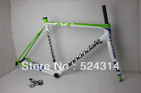 IN stock!!full carbon bike frame road super light frame+fork+headset white green BMC/PINARELLO/CERVE/S5