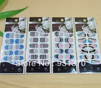 2013 NEW 3D Nail sticker/Nail wrap giltter Nail sticker (12pieces/set)