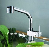 New Single Handle Faucet Basin & Kitchen Pull Out Spray MixerTap  Z367