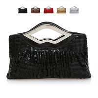 Free Shipping!Moonflower popular craft aluminum clutch bag evening bag banquet bag fashion chain bag , X-9014